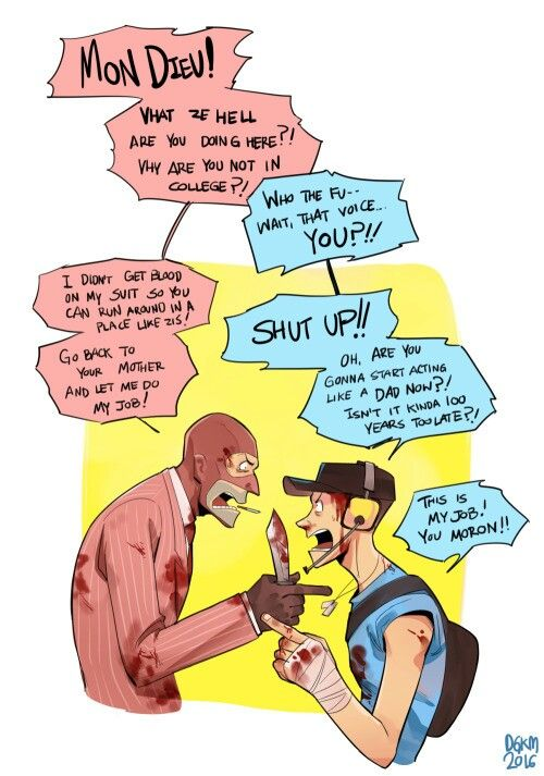 Spy n scout arguing                                                                                                                                                                                 More