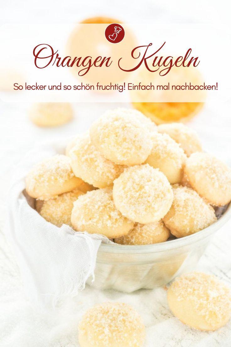 Keksrezepte, Orangenrezepte: Tolles Rezept für Orangenbällchen mit Zuckertasse …   – Weihnachten ♥ Weihnachtsrezepte aller Art