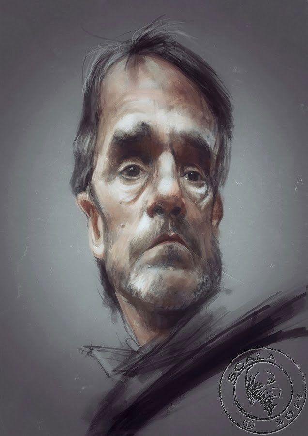 Caricatura de Jeremy Irons