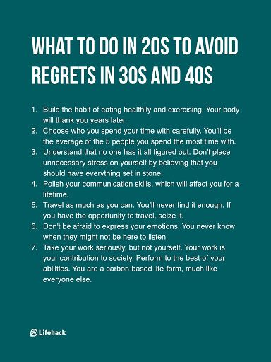 7 Things To Remember In Your 20s If You Don't Want To Have Regrets – Kindness & Happiness