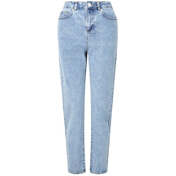 Miss Selfridge PETITE MOM Jeans ($70) ❤ liked on Polyvore featuring jeans, pants, bottoms, blue, petite, miss selfridge, blue jeans, petite jeans, petite blue jeans and miss selfridge jeans