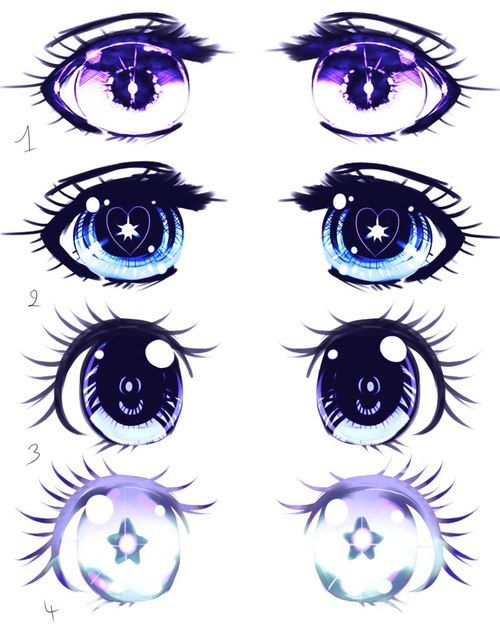 Really cool different kinds of anime eyes