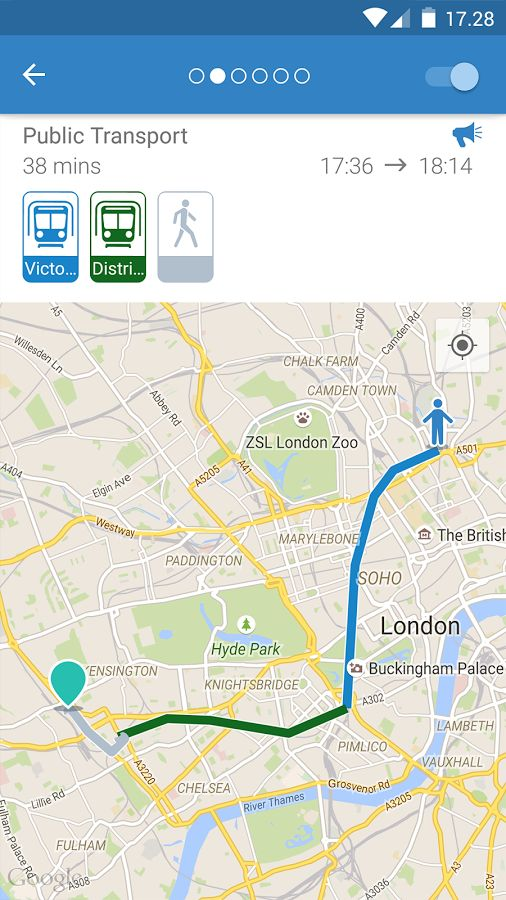 ally: transit route planner - screenshot