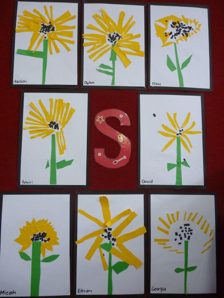 Sunflowers - cutting activity