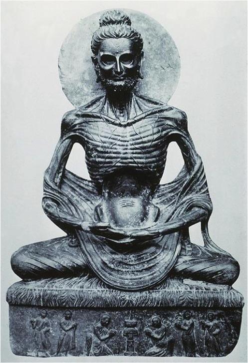 Le jeûne de Bouddha (Bouddha émacié) , dynastie des Kouchans, Gandhara (Pakistan), 2e au 3e siècle, schiste. Musée de Lahore, Punjab, au Pakistan - See more at: http://wtfarthistory.com/tagged/Ancient/page/2#sthash.hPlcbWQ0.dpuf