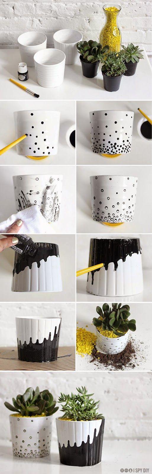 I want #pretty: #DIY- Varias ideas para hacer tú mismo. Dale un giro diferente a tus #macetas.