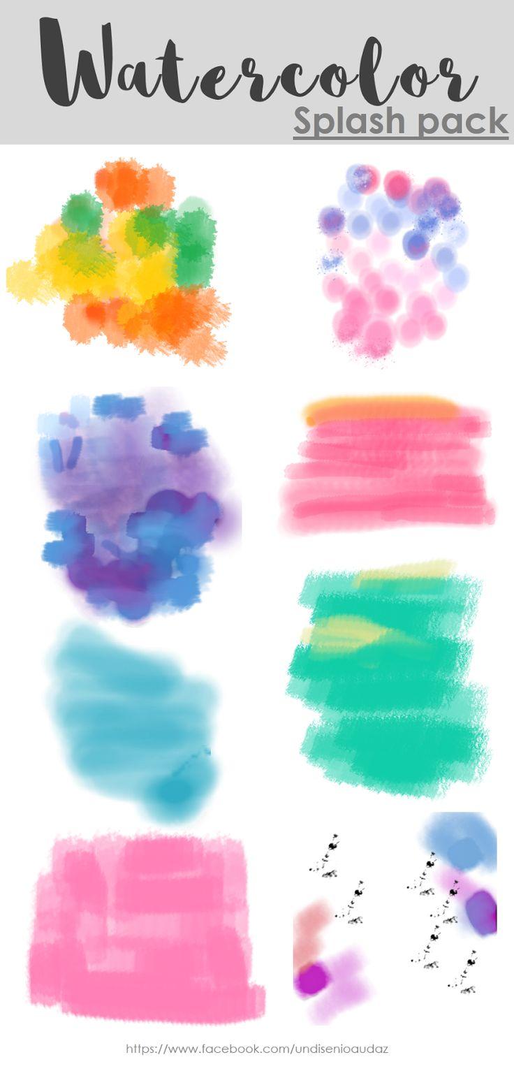 Diseño audaz: Watercolors splash PNG free