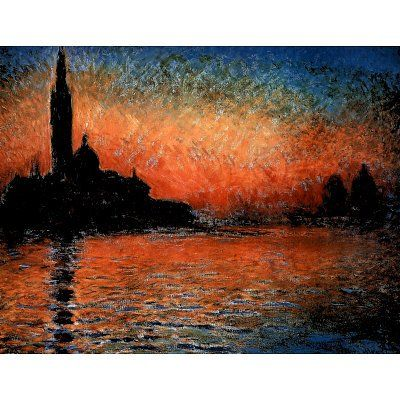 (35x47) Claude Monet (Sunset in Venice, Huge) Art Poster Print Poster