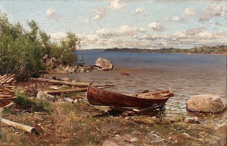 Hjalmar Munsterhjelm: Shore Scene from Lake Näsijärvi, ?