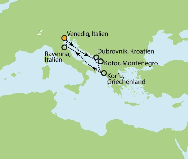NORWEGIAN STAR – 4 LÄNDER ENTLANG DER ADRIA - DOMINIKANER KLÖSTER - DANTES GÖTTLICHE KOMÖDIE  8  Nächte Zielgebiet: ITALIEN - KROATIEN - MONTENEGRO - GRIECHENLAND - ITALIEN
