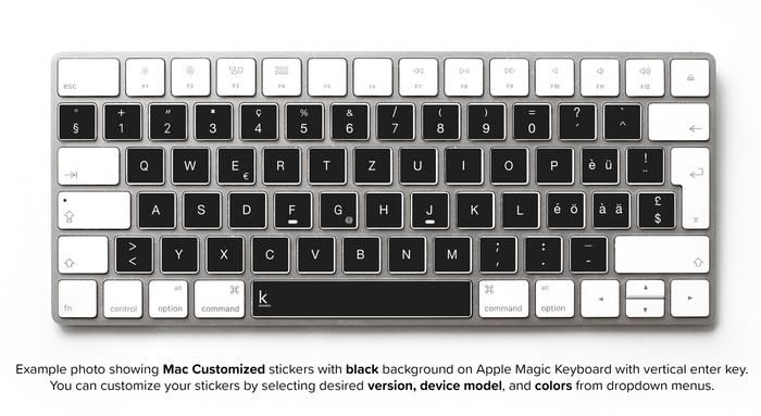 Black Replacement Keyboard Stickers With Swiss Qwertz Alphabet Now You Can Write In Any Language Keyboard Stickers Keyboard Apple Laptop Covers