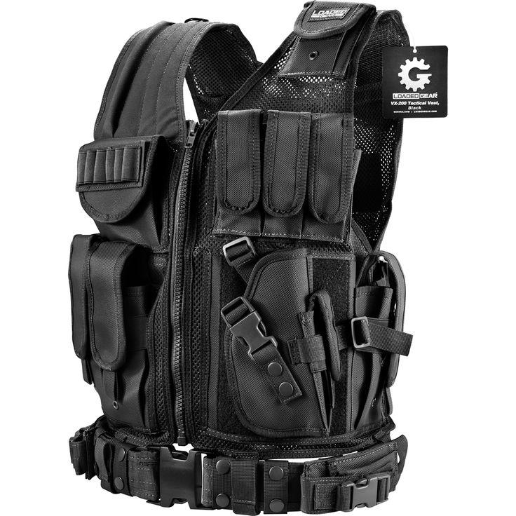 Barska BI12018 VX-200 Customizable Loaded Gear Black Tactical Vest Right Hand