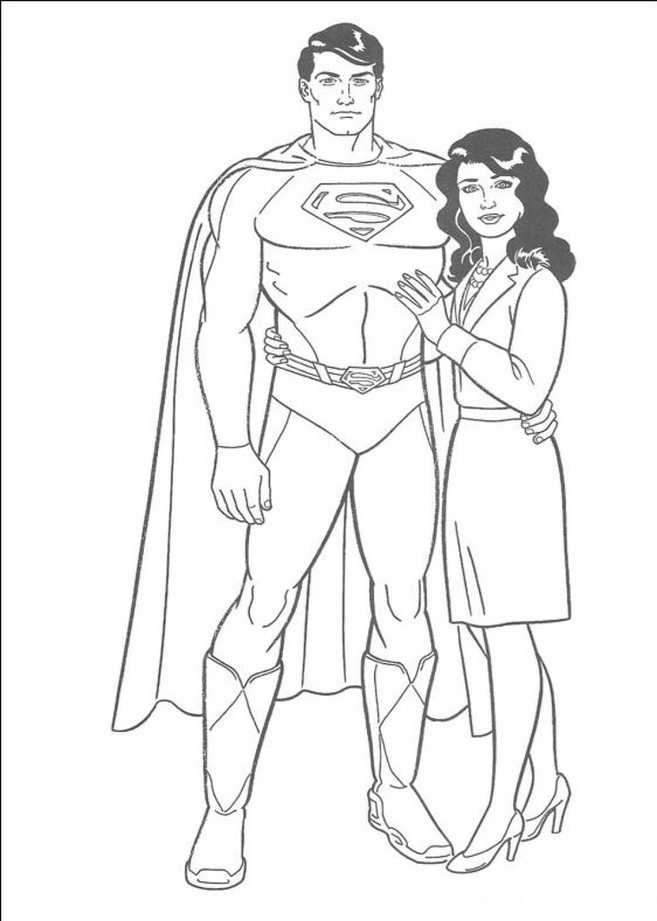 Superman And Jane Coloring Pages