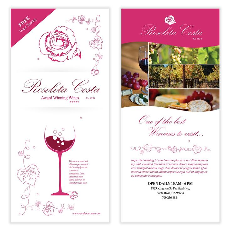 Wine Flyer Template 02