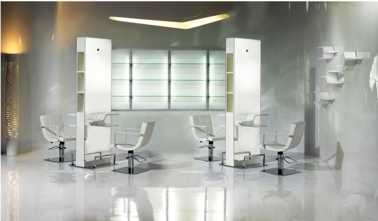 In this scene: Nek Stylign Chairs, Ykon Shelf Furniture, Ykon Tower , Expo Light Styling Unit  http://www.pietranera.com/en/home