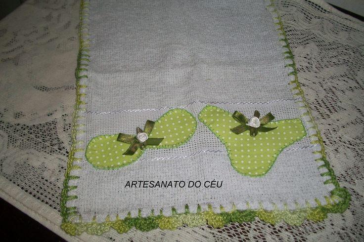 Toalhinha Lingerie Verde - R$ 10,00 Cod. PBM 012