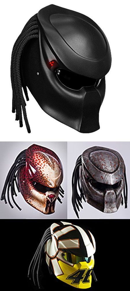 For all you motorcycle riders who feel like you don't get the respect you deserve on the road, here's a crazy cool Predator 2 inspired motorcycle helmet you can wear.