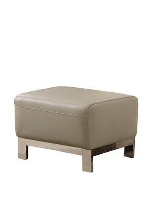 61% OFF Furniture Contempo Erika Ottoman, Grey