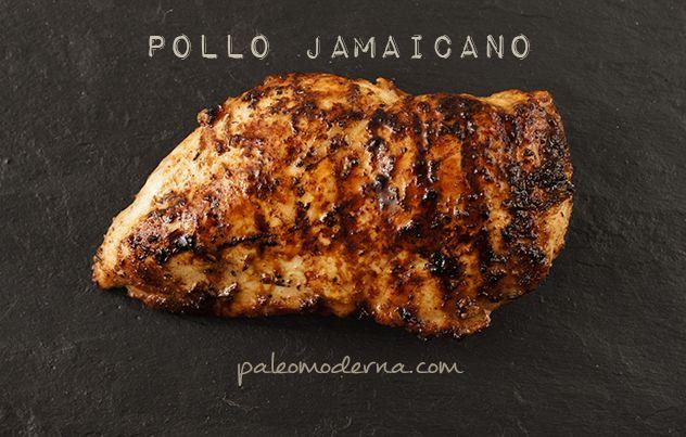 Pollo al estilo jamaicano. Recetas paleo fáciles de hacer. Sin gluten, sin lactosa. Recetas aptas para celíacos.