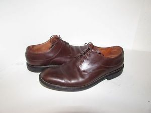 COLE HAAN men's #8.5 D brown soft leather oxford shoes