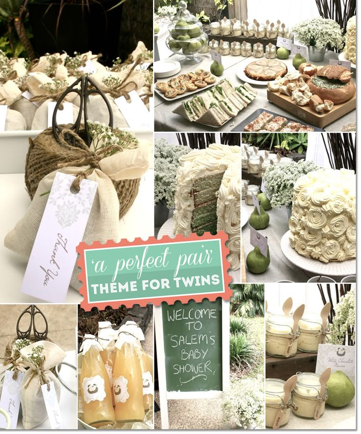 Rustic fall baby shower food such as white chocolate mousse in mason jars and macarons