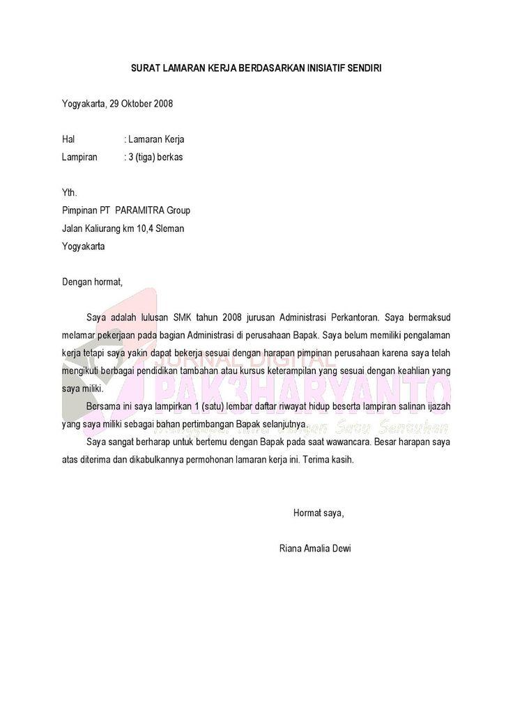 contoh surat permohonan magang pribadi  contoh cv magang