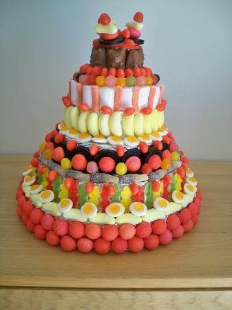 wedding cake with candy