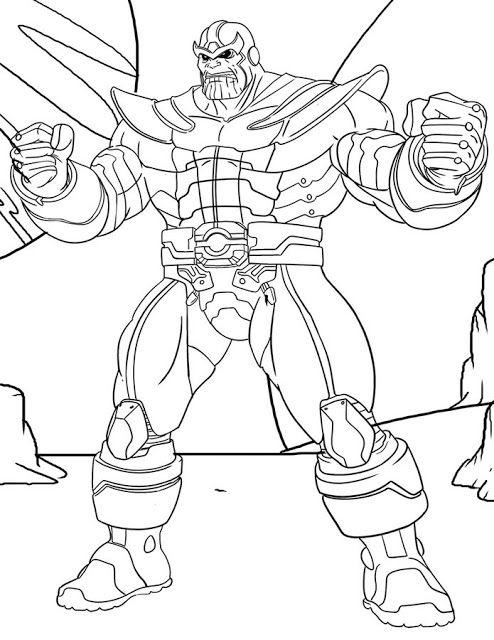 Thanos Ausmalbilder Malvorlagen Kostenlos Marvel