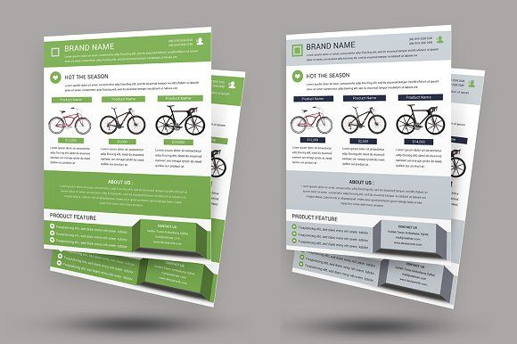 Cycle Shop Flyer Template by DeviserWeb on @creativemarket
