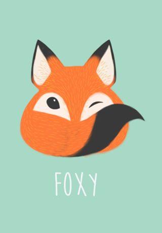 Poster Foxy do Studio Ninamillen por R$50,00