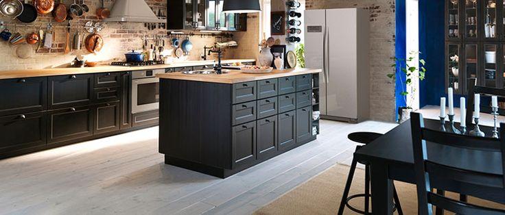 Plan de travail KARLBY brun noir IKEA