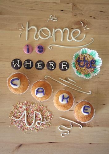 Cake/Baking Typography