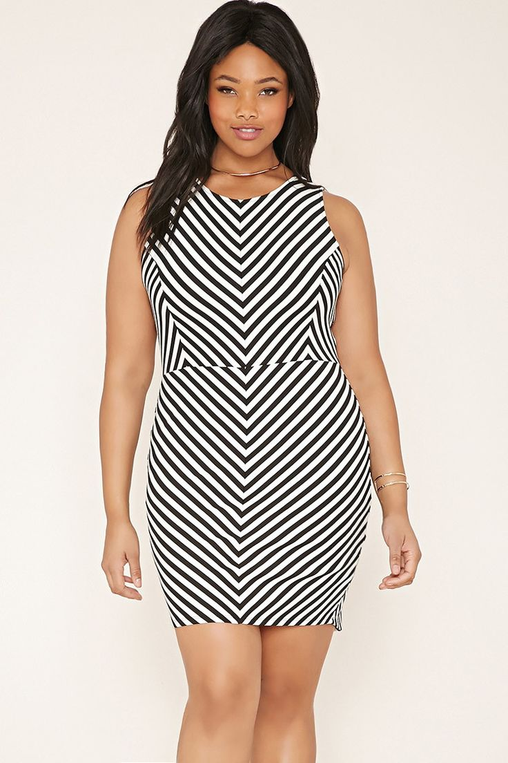 Plus Size Chevron Dress | Forever 21 PLUS - 2000152450