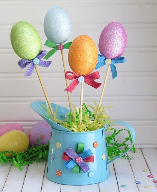 Easter Centerpiece using Dollar Store Goods
