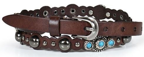 Shyanne Women's Turquoise Studded Belt - Country Outfitter