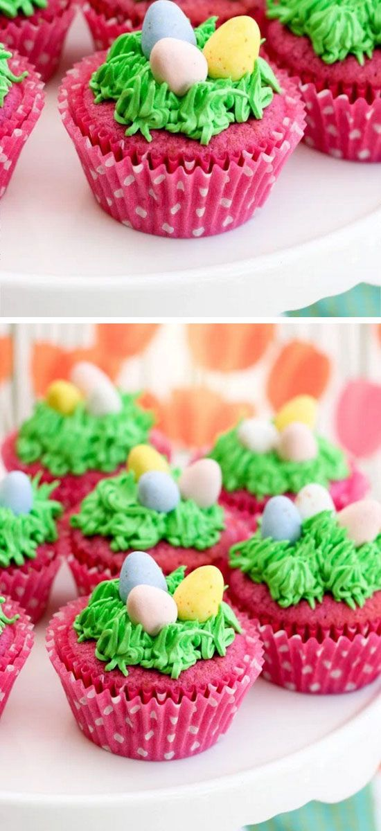 Raspberry Easter Egg Cupcakes | Easy Easter Treats for Kids to Make