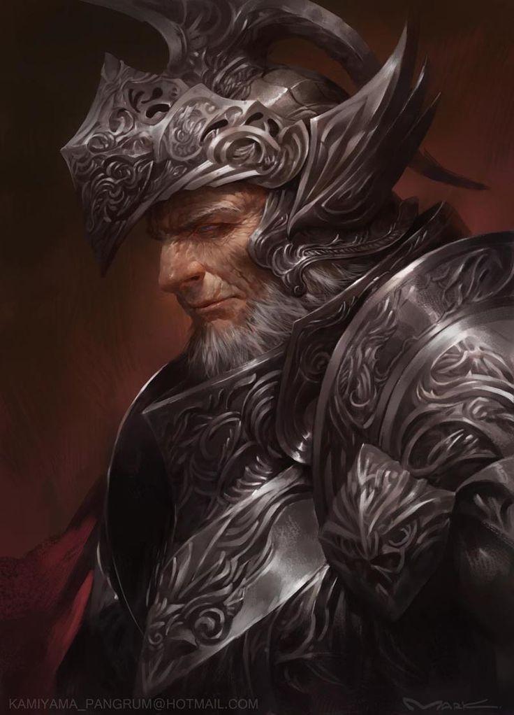 old knight, Yutthaphong Kaewsuk on ArtStation at https://www.artstation.com/artwork/GZRld
