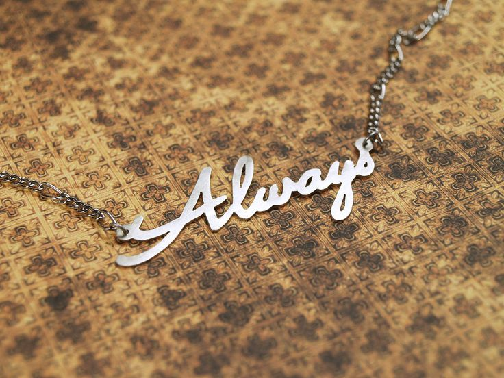 "Always necklace (Harry Potter) | metal cutting, material: nickel silver | ""After all this time?"" ""Always."""