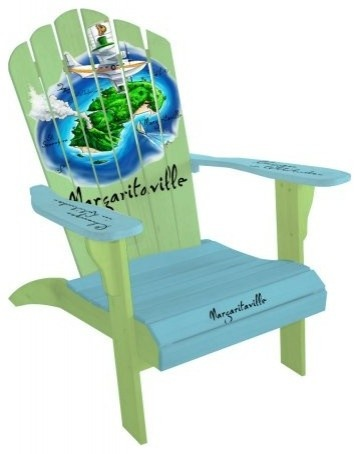 Margaritaville Classic Adirondack - Parrot Island eclectic outdoor chairs