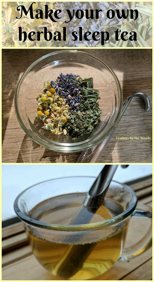 Make your own herbal sleep tea blend from fresh dried herbs. Chamomile, lemongrass, lemon balms, lavender & catnip