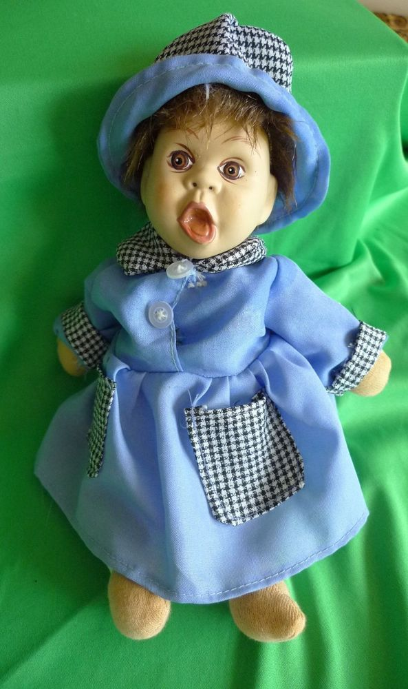 Nice Vintage Scandinavian Norway or Sweden Porcelain Doll Toy from collection