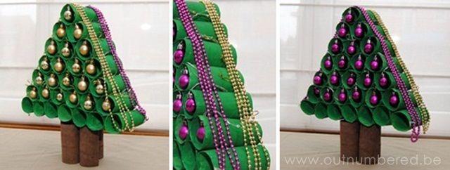 Google Afbeeldingen resultaat voor http://img.outnumbered.be/images/craft-creativity/Xmas-tree-toilet-paper-rolls/kerstboom-knutselen-wc-rollen-resultaat.jpg