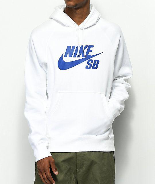 Nike SB Icon White Hoodie  4f237768b14