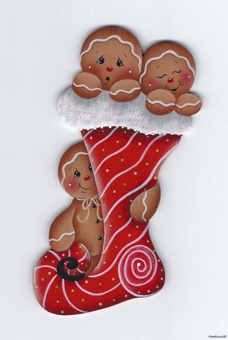 Gingerbread man ornaments - Hp Gingerbread Stocking Fridge Magnet Ebay Gingerbread Man Decorationschristmas Gingerbreadchristmas