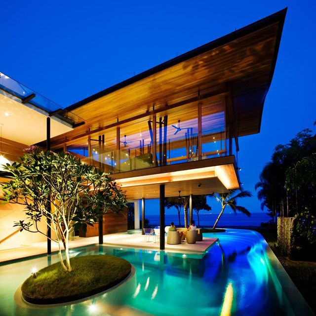 This Fish House in Singapore: Architects, Dreams Houses, Swim Pools, Luxury Houses, Islands, Tropical Houses, Architecture, Beaches Houses, Houses Design