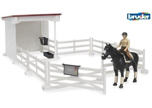 Bruder recinzione con cavallerizza cavallo sella  ad Euro 34.99 in #Bruder #Videogiochi e giocattoli giochi