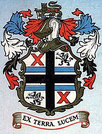 """St Helens, Merseyside - Wikipedia, the free encyclopedia St. Helens County Borough Council coat of arms 1876–1974, """"Ex Terra Lucem"""" - """"From the Ground, Light"""" granted in 1876"""