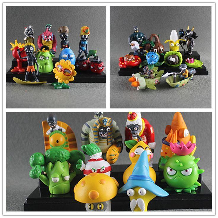 30pcs New Arrival Plants vs Zombies Toy Plants Zombies PVC Figures Toy for Party Decoration Children Gifts #Affiliate