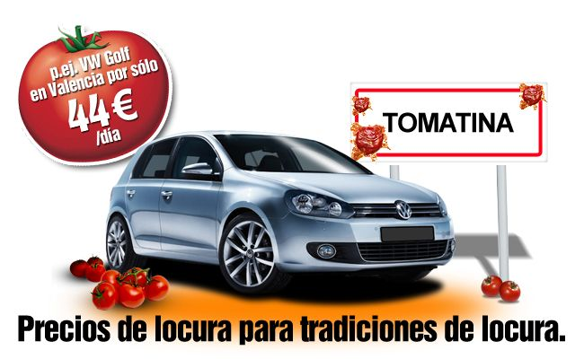 Louez une voiture pour le Tomatina chez Sixt Espagne
