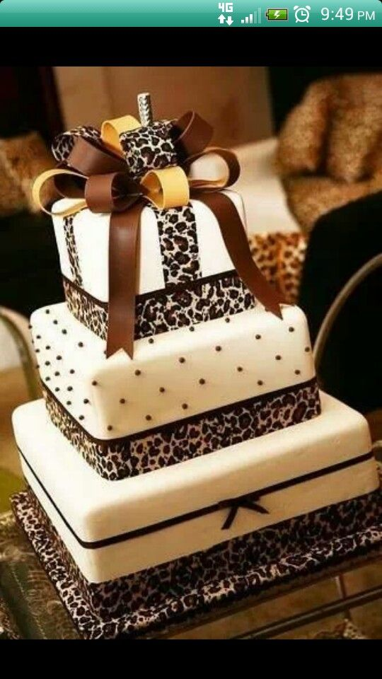 wouldn't actually have leopard print cake but this one looks great